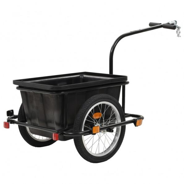 Cykelanhænger sort 50 l