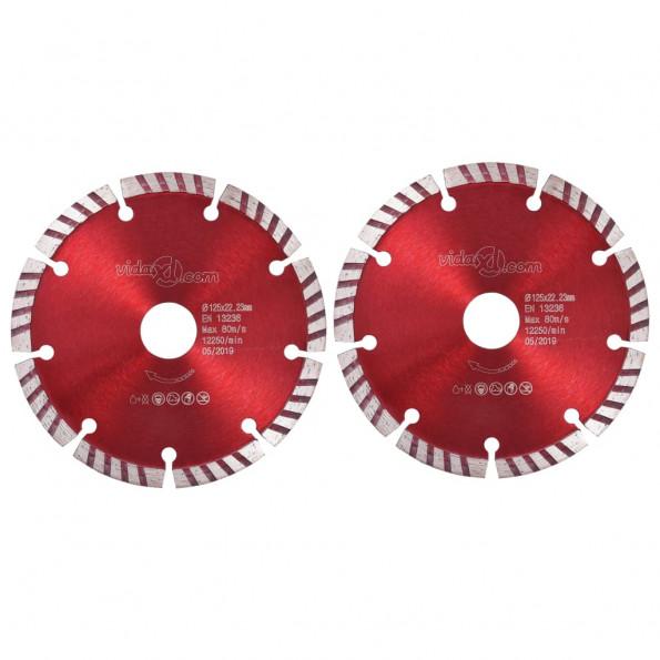Skæreskiver til diamantskærer med turbo 2 stk. 125 mm stål
