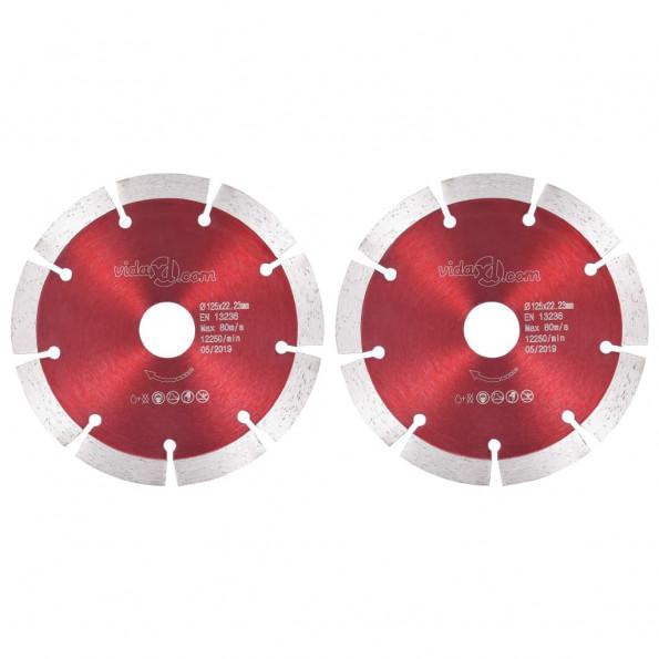 Skæreskiver til diamantskærer 2 stk. 125 mm stål