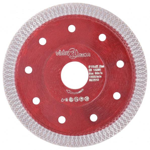 Skæreskive til diamantskærer med huller 115 mm stål