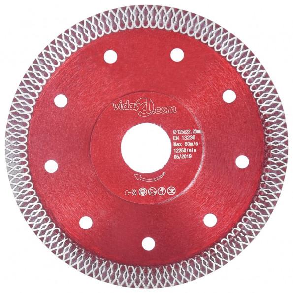 Skæreskive til diamantskærer med huller 125 mm stål