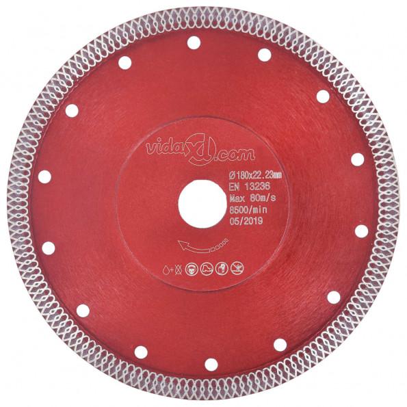 Skæreskive til diamantskærer med huller 180 mm stål