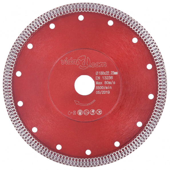 Skæreskive til diamantskærer med huller 230 mm stål