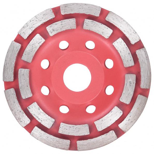 Diamantslibehjul med dobbeltrække 115 mm