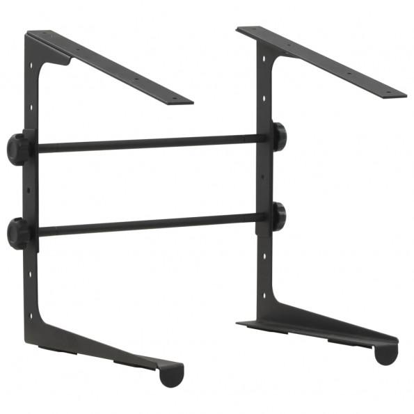 Laptopstativ 30,5 x 28 x (24,5-37,5) cm sort stål