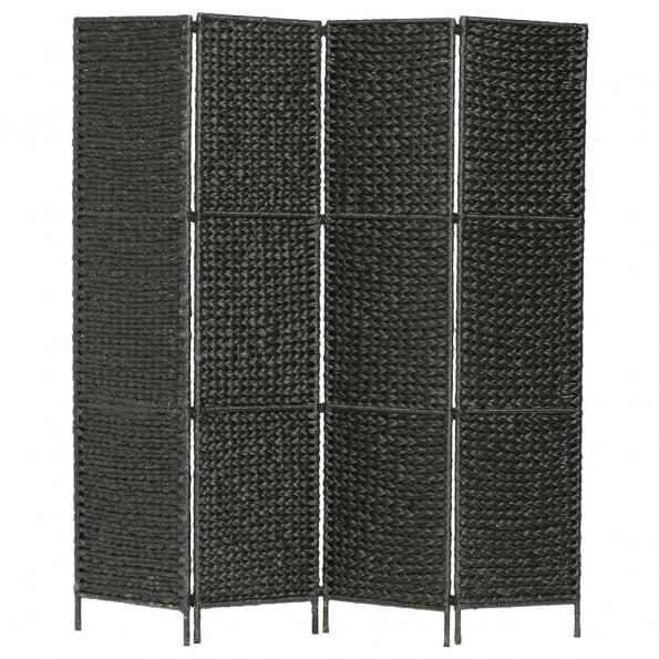 4-panelers rumdeler 154 x 160 cm vandhyacint sort
