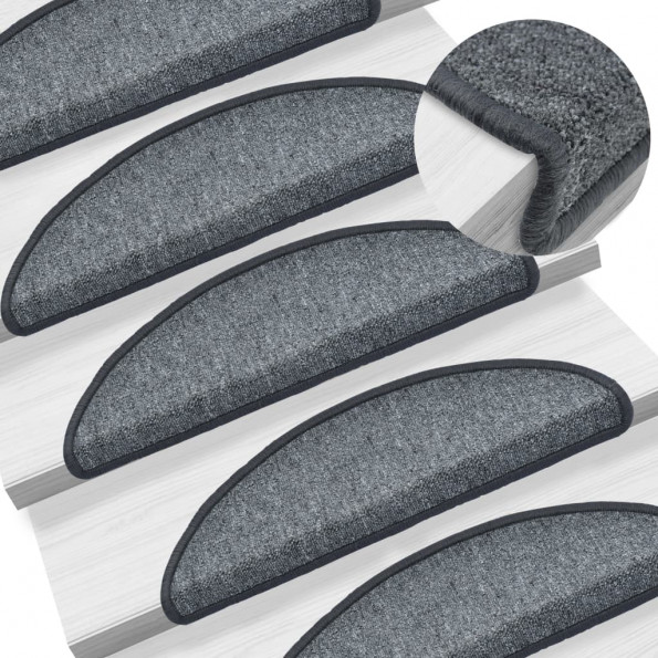 15 stk. trappemåtter 56 x 17 x 3 cm mørkegrå