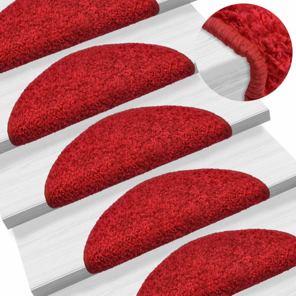 15 stk. trappemåtter 56 x 20 cm rød