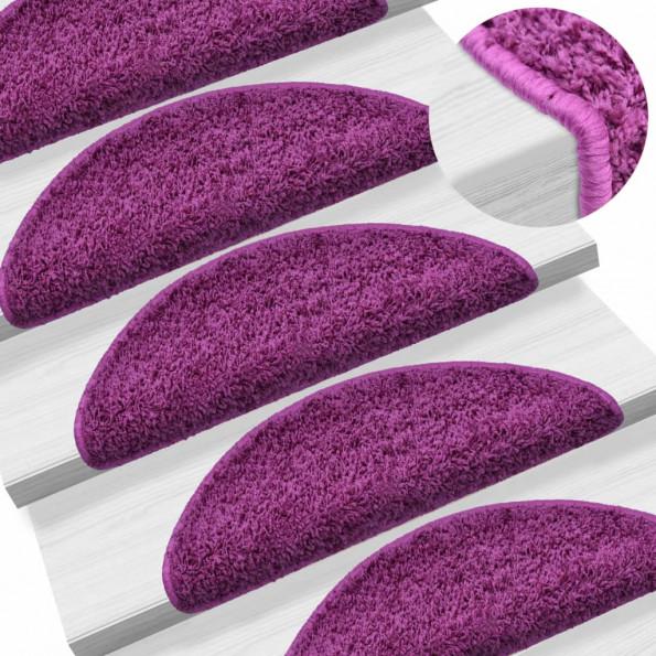 15 stk. trappemåtter 65 x 25 cm violet