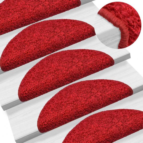 15 stk. trappemåtter 65 x 25 cm rød