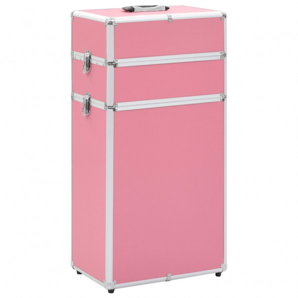 Makeupkuffert aluminium pink