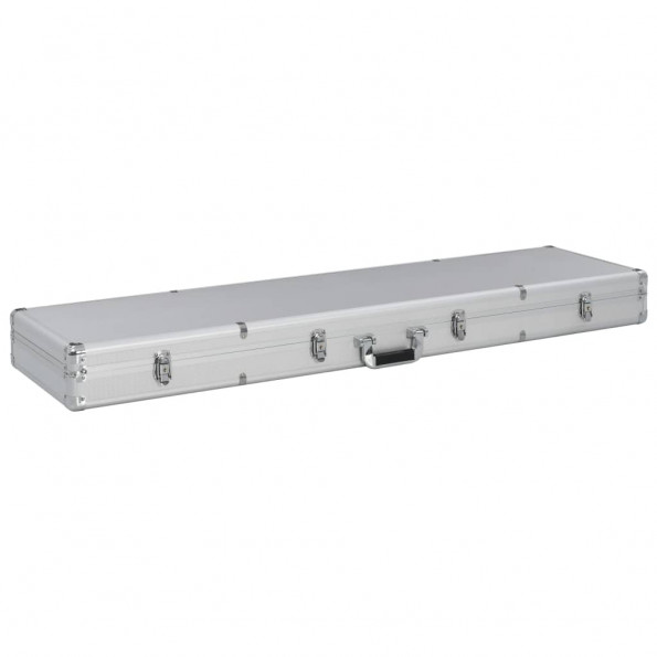 Våbenkasse 134 x 35 x 12 cm aluminium sølvfarvet