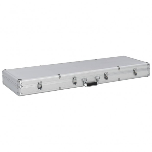 Våbenkasse 118 x 38 x 12 cm aluminium sølvfarvet