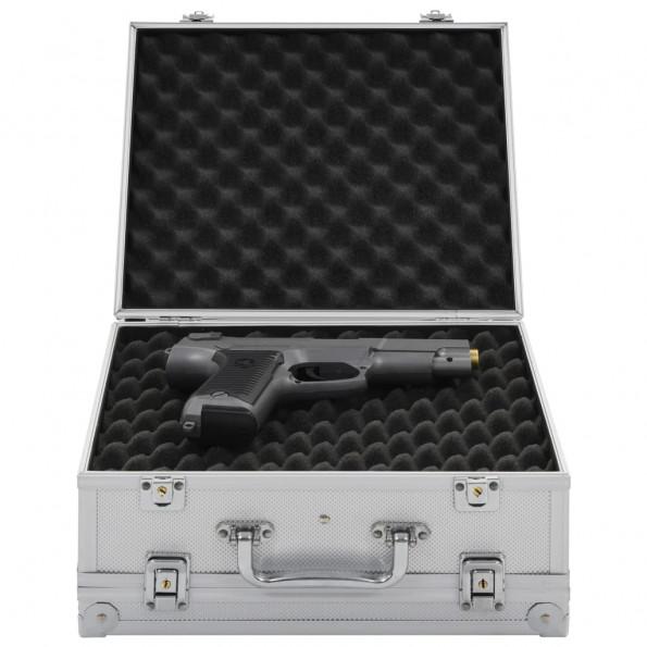 Våbenkasse aluminium ABS sølvfarvet