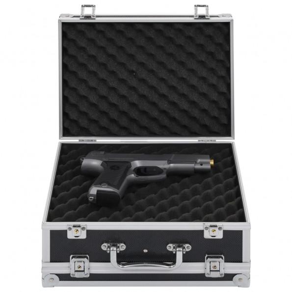 Våbenkasse aluminium ABS sort