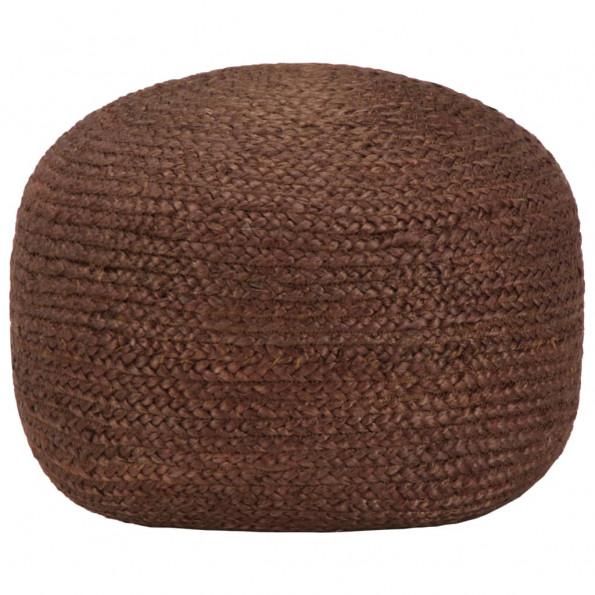 Håndlavet puf 40 x 45 jute brun