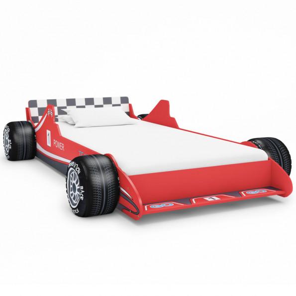 Racerbilseng til børn 90 x 200 cm rød