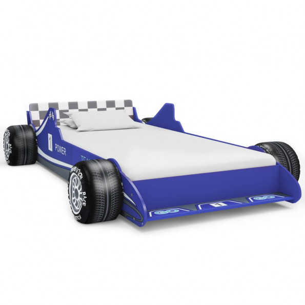 Racerbilseng til børn 90 x 200 cm blå