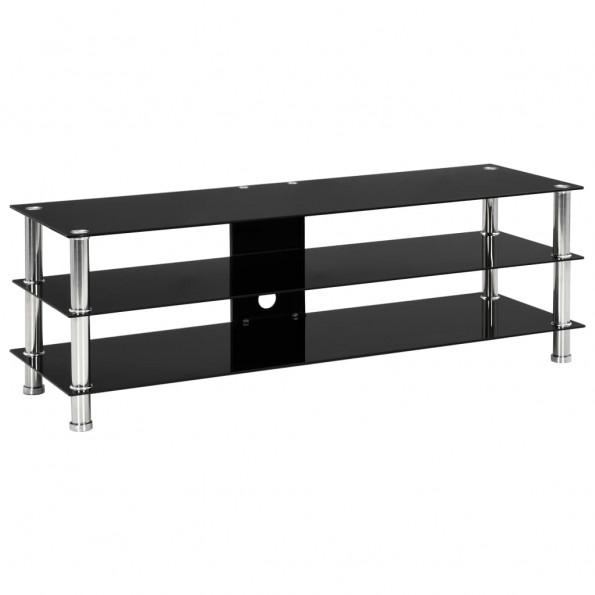 Tv-bord 120 x 40 x 40 cm hærdet glas sort