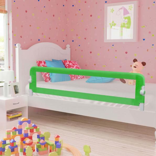 Sengegelænder til barneseng 180 x 42 cm polyester grøn