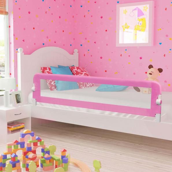 Sengegelænder til barneseng 180 x 42 cm polyester pink