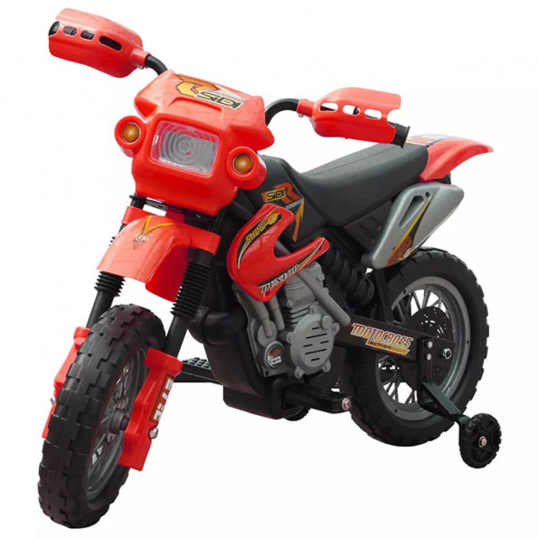 Børn elektrisk rød motor cykel