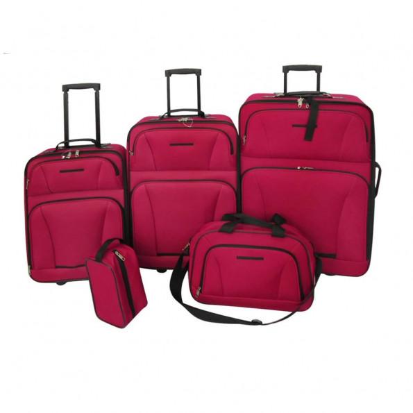 Kuffertsæt i fem dele rød