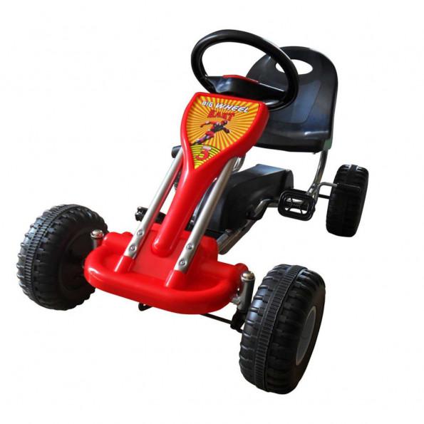 Pedal-gokart rød