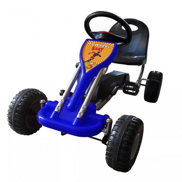 Pedal-gokart blå