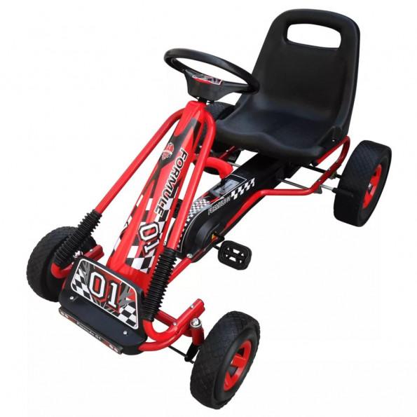 Pedal-gokart til børn rød