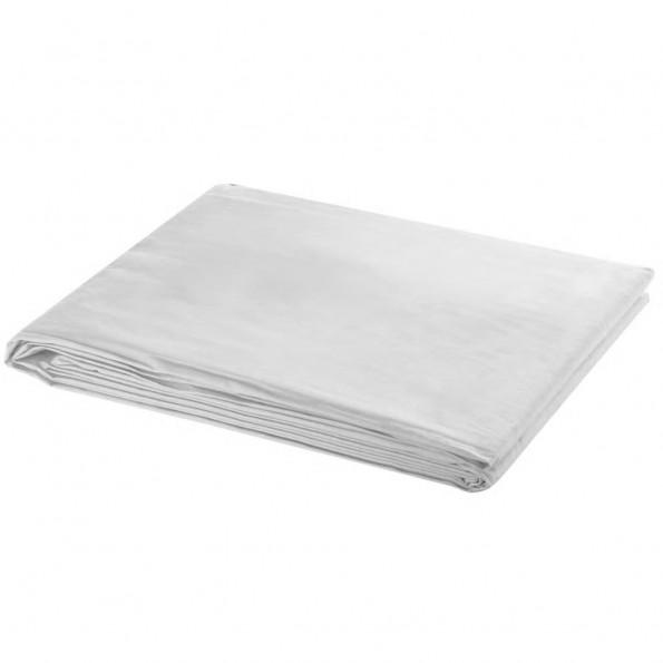 Fotobaggrund i bomuld hvid 300 x 300 cm