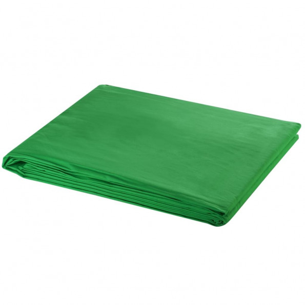 Fotobaggrund i bomuld grøn 500 x 300 cm chroma key
