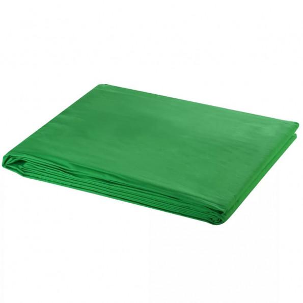 Fotobaggrund i bomuld grøn 600 x 300 cm chroma key