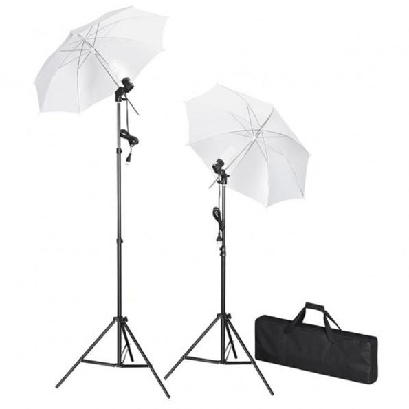 Studiobelysning med stativ & paraplyer