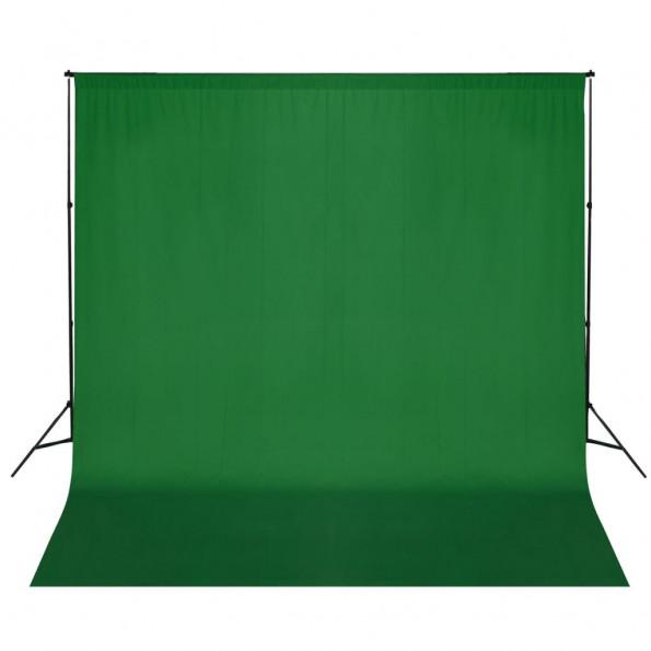 Stativsystem til fotobaggrund 600 x 300 cm grøn