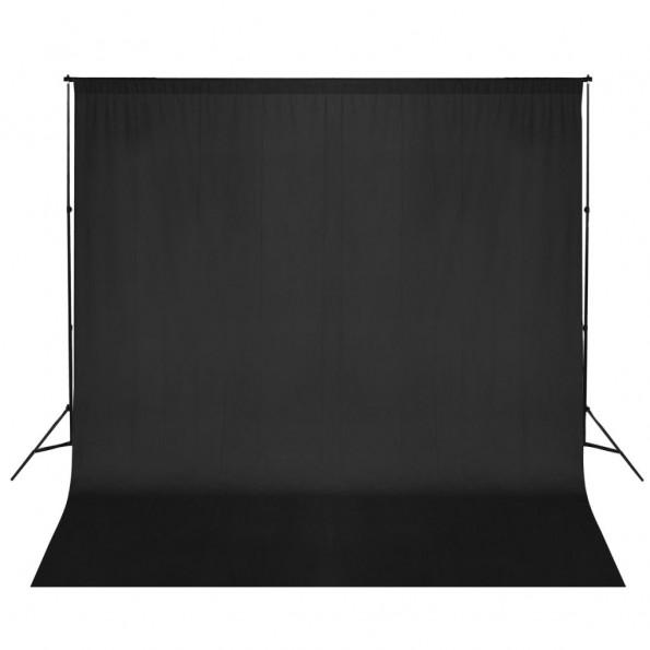 Stativsystem til fotobaggrund 600 x 300 cm sort