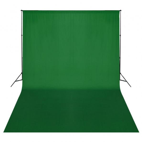 Stativsystem til fotobaggrund 500 x 300 cm grøn