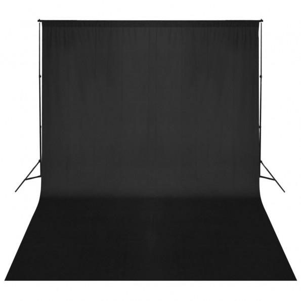 Stativsystem til fotobaggrund 500 x 300 cm sort