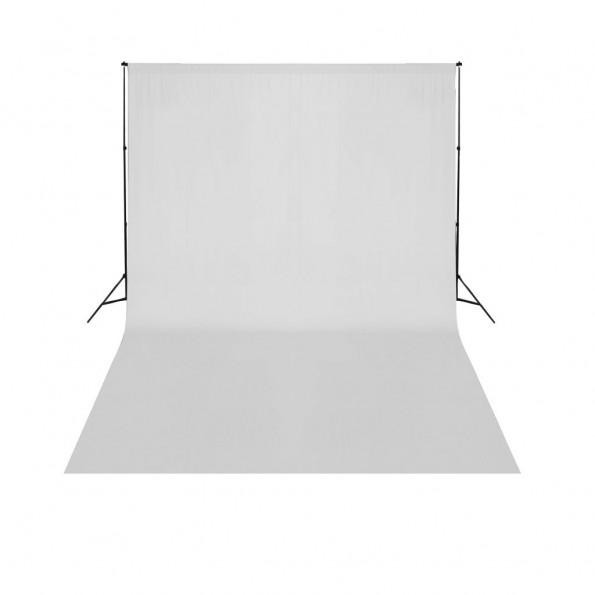 Teleskopisk stativsystem til baggrund + hvid fotobaggrund 3 x 5 m