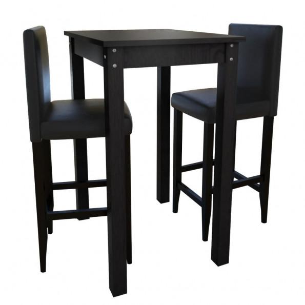 Barbord med 2 barstole sort