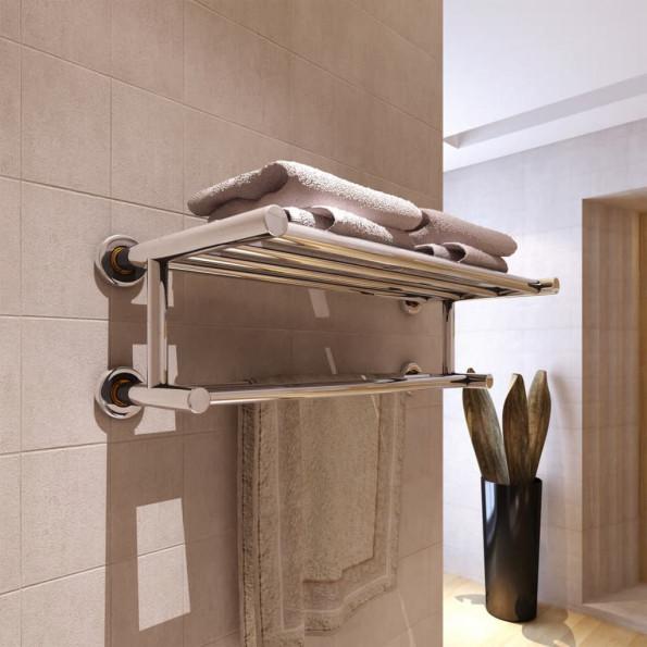 Håndklædeholder 6 rør rustfrit stål