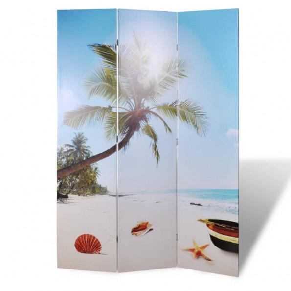 Foldbar rumdeler 120 x 170 strandmotiv