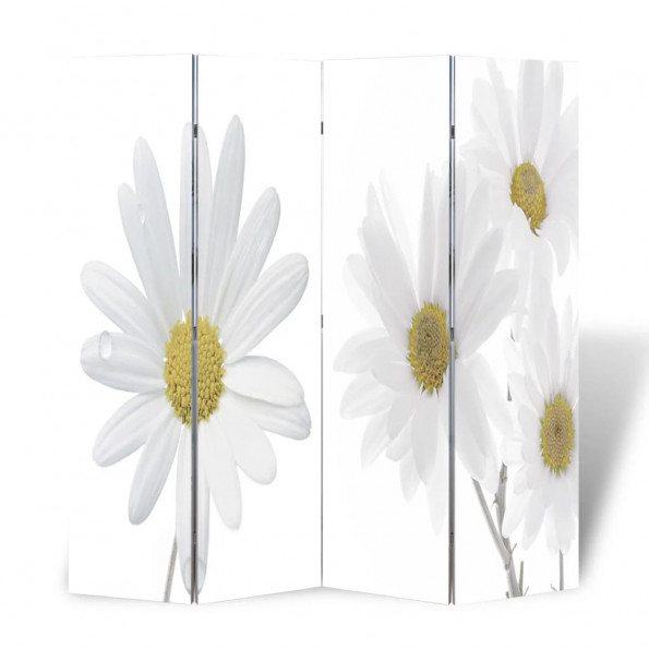Foldbar rumdeler 160 x 170 blomstermotiv