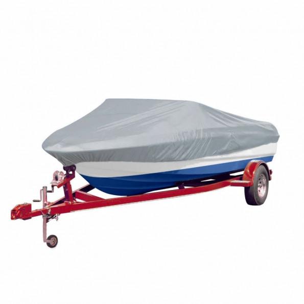 Båd dække i grå 519-580 cm langt og 244 cm bred