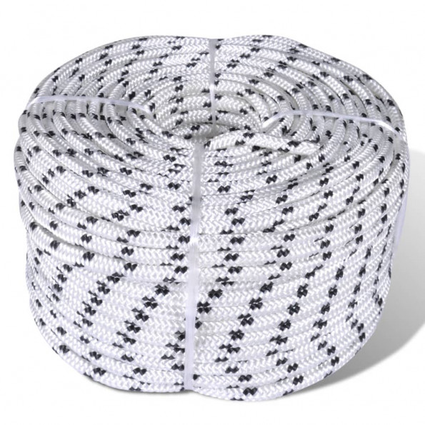 Flettet bådreb polyester rulle 6 mm x 50 m