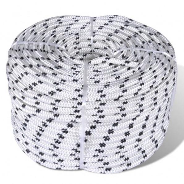 Flettet bådreb polyester rulle 10 mm x 50 m