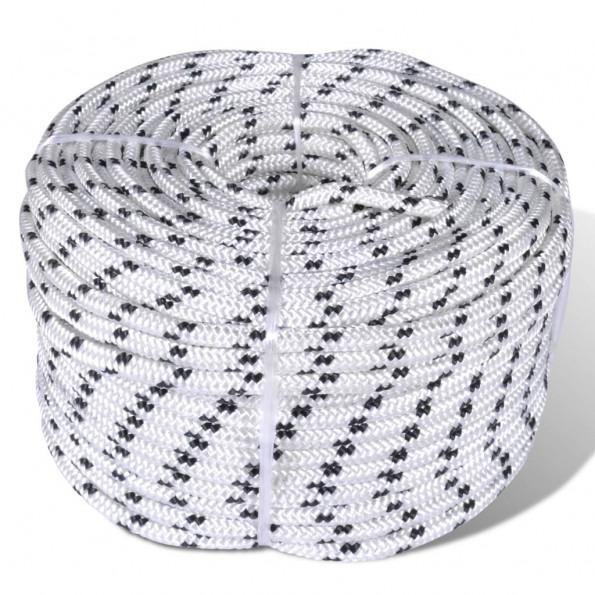 Flettet bådreb polyester rulle 12 mm x 50 m