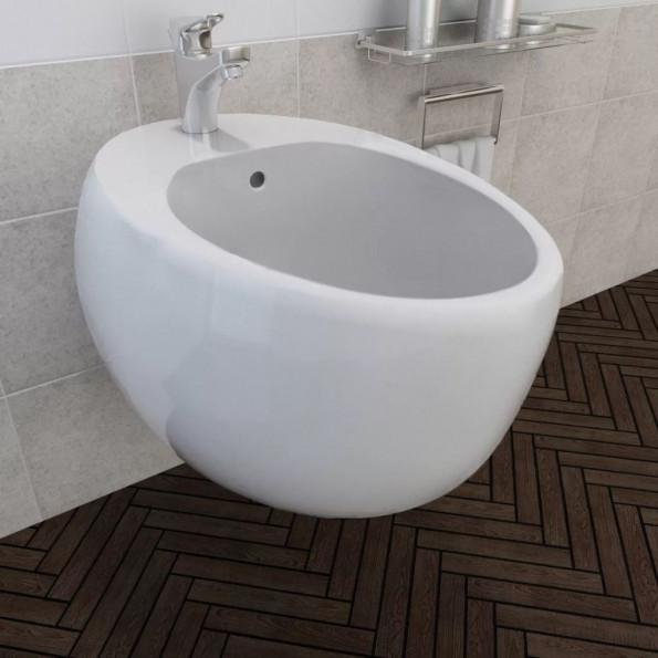 Bidet hvid keramik, væghængt