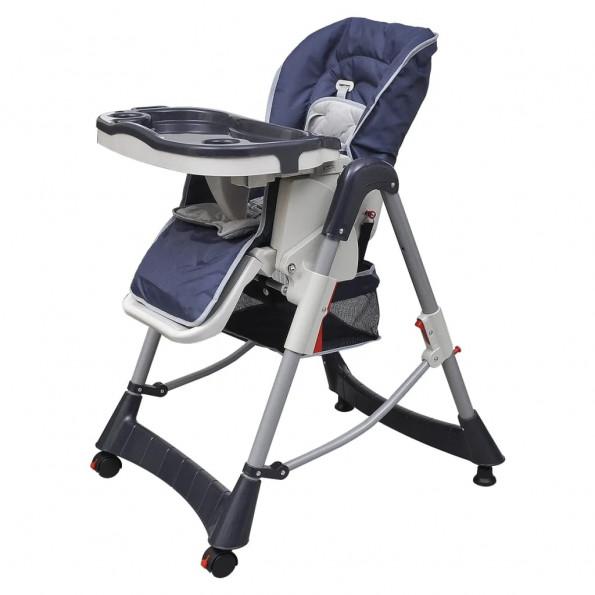 Babyhøjstol Deluxe mørkeblå højdejusterbar