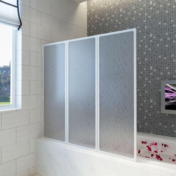 Bad Skærm 117 x 120 cm 3 Foldbare Paneler